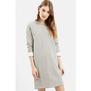 Topshop Striped Sweater Dress